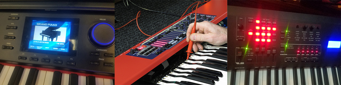 We also repair all types of electric, electronic keyboards and organs.