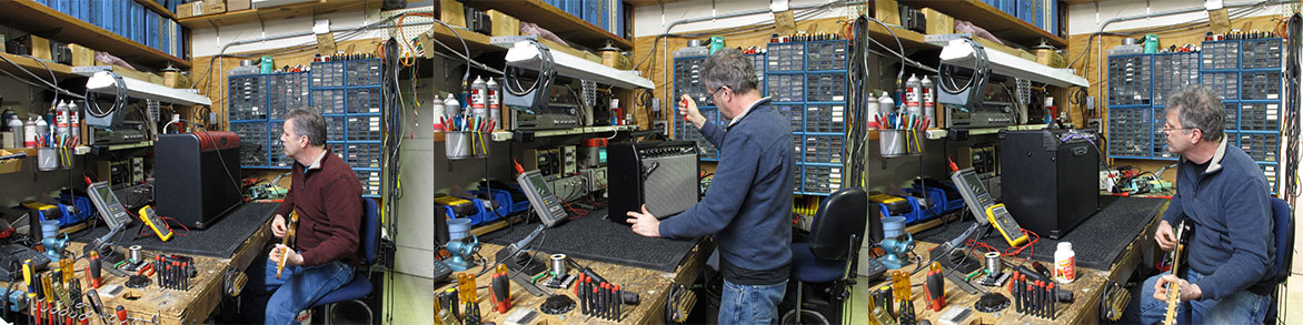 We repair guitar, bass, and power amplifiers both tube and solid state.