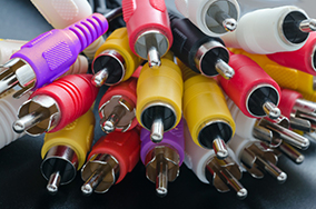 Colorful audio cables