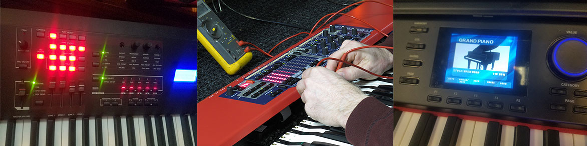 We repair just about any type of keyboard electric piano organ or synthesizer used for studio work.