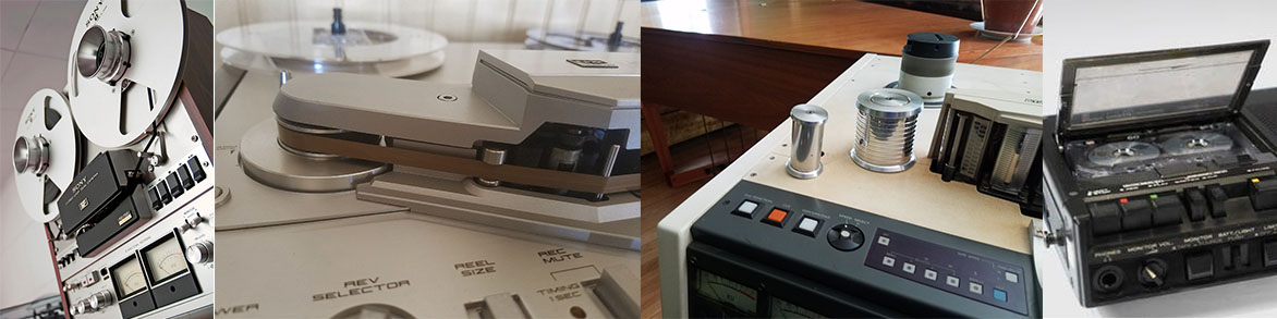 We service tape based units such as reel to reels and cassette recorders as well as all types of digital recorders.